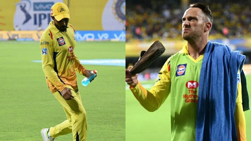 Shoes thrown Chennai super kings
